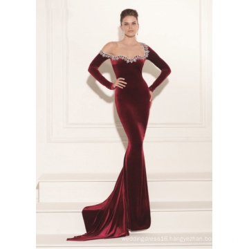 Long Sleeve Mermaid Evening Dress Party Gown