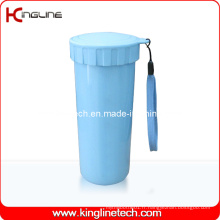 Couvercle en plastique à double couche en plastique de 400 ml (KL-5017)