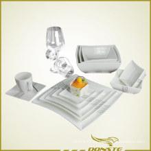 14 PCS Western Tableware Waisted Design