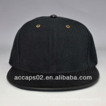 leather flat bill blank snapback caps wholesale