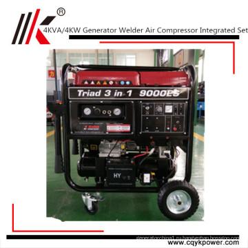 Бензин компрессор, Сварочный генератор, бензиновый генератор, Сварочный аппарат все медной катушки
