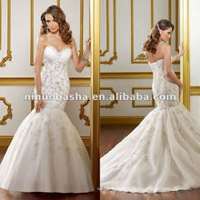 Sweethear Neckline Memaid Wedding Dress