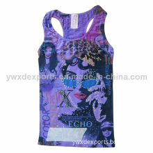 Ladies Seamless Printed Camisole Tank Tops Women Dress Xd-PT002