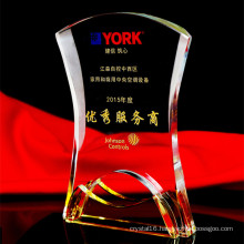 Book Shape Crystal Glass Trophy for Souvenir