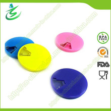 Produits promotionnels Pill Box Round, Weekly Pill Container