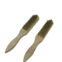 IB-WB-003 Industrial Natural Beech Wooden Handle Steel Wire Brushes
