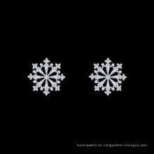 Moda copo de nieve pendiente joyería nuevos regalos de navidad