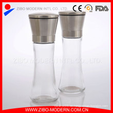 Großhandel Lange Flasche Glas Salz und Pfeffer Schleifer Set