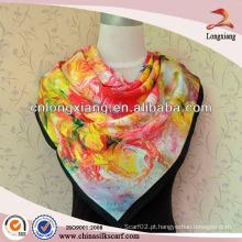Cópia de impressão de seda de sarja de seda de design personalizado