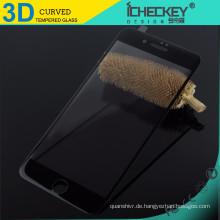 Großhandel 3D Kohlefaser gehärtetes Glas für iPhone 7