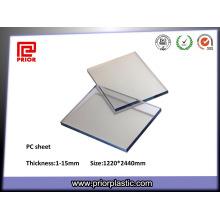 Hoja de PC transparente con alta temperatura de transición de cristal