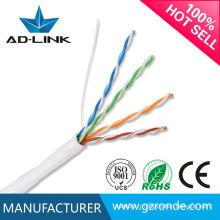 Prix du câble bon marché utp cat5 cat5e câble à paire torsadée câble LAN 4 paires