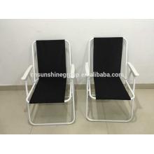 Moda lona sen cadeira de dobradura fácil dobrada