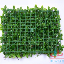 Green Plastic Artificial Living Wall For Garden Covering