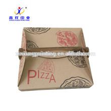 Personalize a cor! Cartão branco feito sob encomenda ou caixas de empacotamento da pizza do papel ondulado