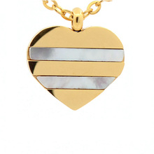 Latest hot sale jewelry stainless steel heart silver and gold pendant design for kids