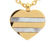 Mais recente venda quente jóias em aço inoxidável coração prata e pingente de ouro design para crianças