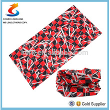 100% Polyester Multifunction customer design sport seamless scarf bandana,in stock