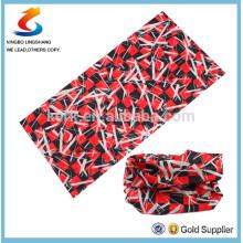 100% poliéster Multifuncional design de cliente esporte bandana lenço sem costura, em estoque