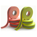Fluorescent Lime-Yellow flame resistant fabric tape