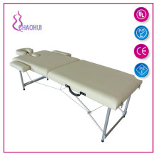 2 bölümü alüminyum taşınabilir masaj masası
