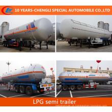 Asme Stadard Semi reboque de transporte de GLP 56000litros Semi reboque de GLP
