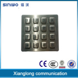 Industrial application anti-explosionproof 4x4 metal illuminated keypad used for intercom system