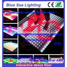Disco illuminated dmx sensitive interactive led dance floor