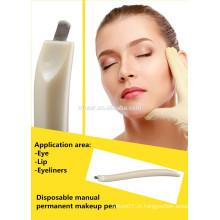 Plástico descartável microblading caneta - manual microblade agulha ferramenta - CF / U agulhas