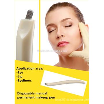 Plastic DISPOSABLE Microblading Pen - Manuelles Microblade Nadelwerkzeug - CF / U Nadeln