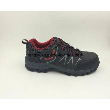 Moda projetado Nubuck couro único segurança sapatos de borracha sapatos ao ar livre (16050)