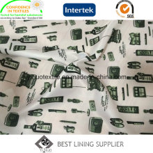 100% Polyester Men or Women′s Garments Print Lining