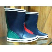 Size 40 Blue Men Half Rubber Rain Boots For Autumn Durable