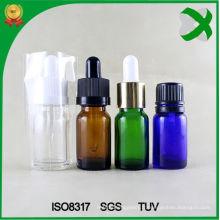 Bouteille de bouteille en verre Bouteille d'huile essentielle d'ambre Bouteille en verre marron