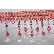 Fancy Acrylic Beads Fringe Curtain Beaded Fringe Trimmings