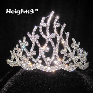 Todas las coronas de princesa de cristal transparente con diamantes
