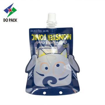 Danqing envases de plástico forma especial jugo doypack