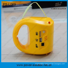 Portable 2*1.7W Solar Panel Lead-Acid Battery Solar Lantern with Mobile Phone Charger with a Bulb