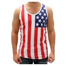 Американский Плоский Бак Топ T-Рубашки ТТ-004