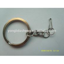 Круглое металлическое кольцо для ключей