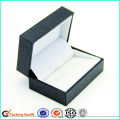 Embalagem de caixa de papel de abotoaduras de luxo preto