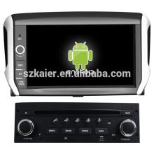 tela capacitiva dual core android 4.2 OS gps do carro para Peugeot 208 com GPS / Bluetooth / TV / 3G / WIFI
