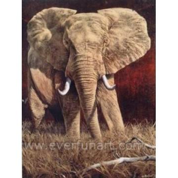 Африканская живопись маслом слона