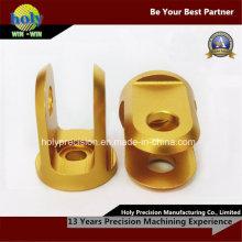 ЧПУ золото анодированный 6063 сплав с ЧПУ алюминиевых деталей