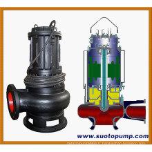 Pompe d'égout submersible centrifuge à eau usée non obstruée (WQ)