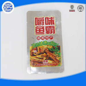 Laminated plastic food packaging bag for food