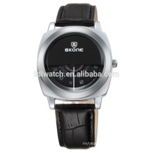SKONE 9244 cool style PU leather western watches