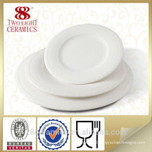 Restaurant use white ceramic round plate, ceramic dinner plate, porcelain plate