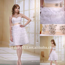 Astergarden Fashionable New Style Sweetheart Skirt with sash mini white wedding prom cocktail dress AS025
