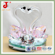 Regalos de animales de cristal de color rosa (JD-CW-106)